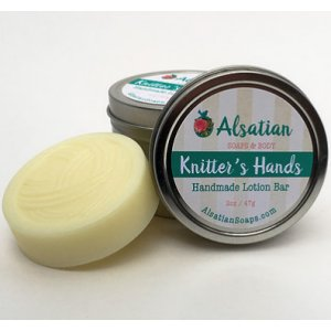 Alsatian Soaps & Bath Products Knitter's Hands - Lavender Tin