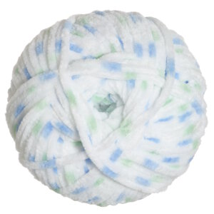 James C. Brett Flutterby Chunky Yarn - 08 Blue/Green Print