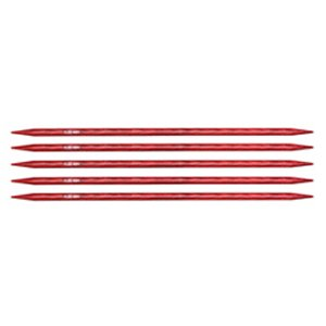 "Knitter's Pride Dreamz Double Point Needles - US 8 - 6"" (5.0mm) Cherry Blossom Needles"