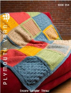 Plymouth Books - 654 Encore Sampler Throw