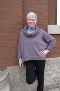 Plymouth Yarn Sweater & Pullover Patterns - 2601 Women's Boxy Pullover Pattern