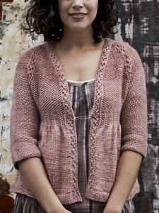 Berroco Ultra Alpaca Light Cinnamon Girl Cardi Kit - Women's Cardigans