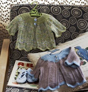 Koigu KPPM and KPM Sprinkle Baby Sweater Kit - Baby and Kids Cardigans