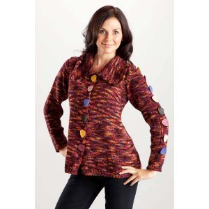 Trendsetter Bacio Buttoned Swing Jacket Kit - Women's Cardigans