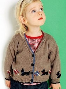 Debbie Bliss Baby Cashmerino 4 Scottie Jacket Kit - Baby and Kids Cardigans