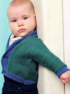 Debbie Bliss Baby Cashmerino Little Jacket Kit - Baby and Kids Cardigans