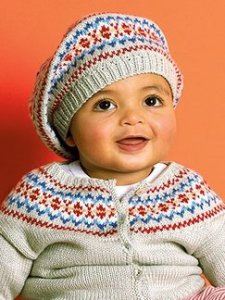 Debbie Bliss Baby Cashmerino Fairisle Outfit Kit - Baby and Kids Cardigans