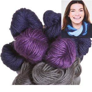 Be Sweet Multicolor Entwined Cowl Kit - Grape