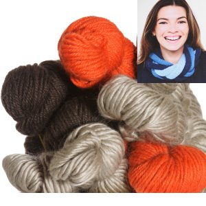 Be Sweet Multicolor Entwined Cowl Kit - Persimmon
