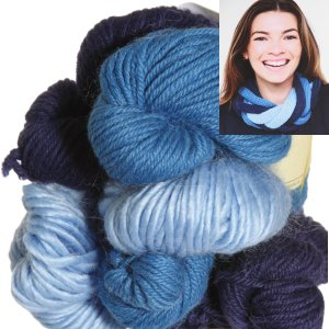 Be Sweet Multicolor Entwined Cowl Kit - Blueberry