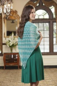 Rozetti Polaris Vinter Skoven Lace Shawlette Kit - Scarf and Shawls