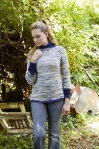 Universal Yarns Bamboo Bloom Weekend in the Country Kit - Women's Pullovers