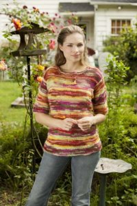 Universal Yarns Bamboo Bloom Morning Market Tee Kit - Women's Pullovers