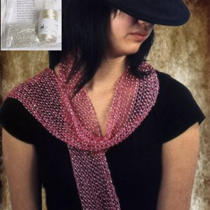 Swallow Hill Creations April Beaded Scarf - Champagne