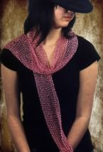 Swallow Hill Creations April Beaded Scarf - Fuchsia (Breast Cancer)