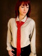 Swallow Hill Creations April Beaded Scarf - Red (Stitch Red)