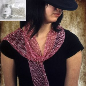 Swallow Hill Creations April Beaded Scarf - Silver Grey
