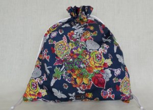 della Q Large Eden Cotton Project Bag (119-2) - 150 Paint By Numbers