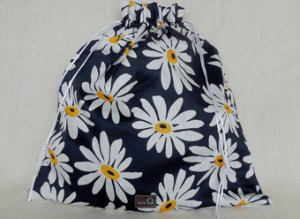 della Q Large Eden Cotton Project Bag (119-1) - 154 African Daisy