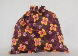 della Q Large Eden Cotton Project Bag (119-2) - 155 Western Wallflower