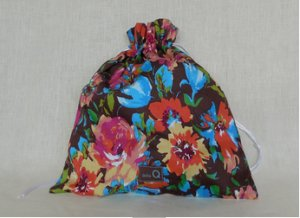 della Q Eden Cotton Project Bag (115-2) - 153 Cocoa Watercolor