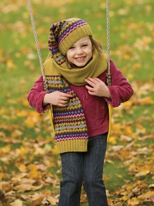 Berroco Comfort DK Ratex Hat and Scarf Set Kit - Baby and Kids Accessories