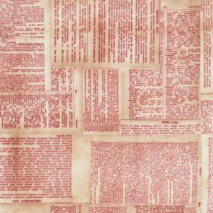 Tim Holtz Eclectic Elements Fabric - Dictionary - Red