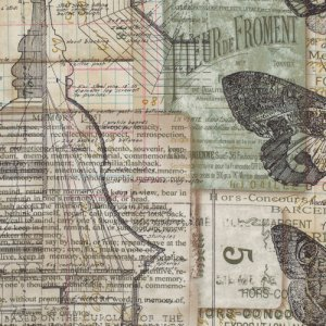 Tim Holtz Eclectic Elements Fabric - Melange - Neutral