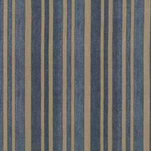 Tim Holtz Eclectic Elements Fabric - Ticking - Blue