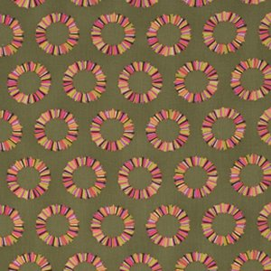 Tula Pink Acacia Fabric - Pineapple Slices - Olive