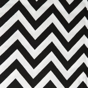 Moda Half Moon Modern Zig Zags Fabric - Black - Medium (32216 12)