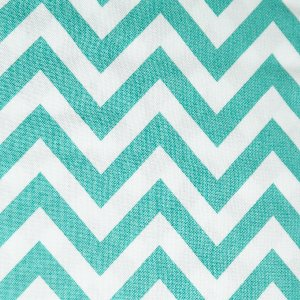 Moda Half Moon Modern Zig Zags Fabric - Aqua - Medium (32216 22)