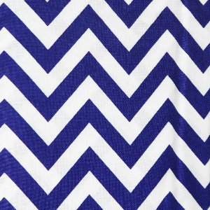 Moda Half Moon Modern Zig Zags Fabric - Royal - Medium (32216 32)