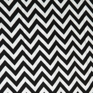 Moda Half Moon Modern Zig Zags Fabric - Black - Small (32217 12)