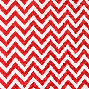 Moda Half Moon Modern Zig Zags Fabric - Ruby - Small (32217 15)