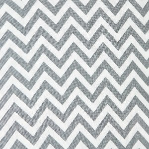Moda Half Moon Modern Zig Zags Fabric - Steel - Small (32217 21)