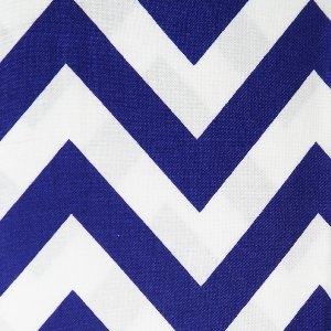 Moda Half Moon Modern Zig Zags Fabric - Royal - Large (32349 32)