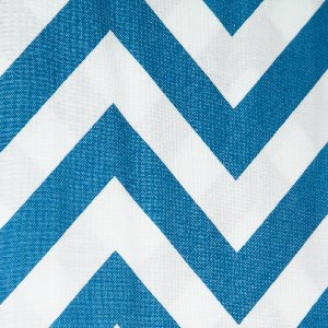 Moda Half Moon Modern Zig Zags Fabric - Blue - Large (32349 33)