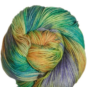 Araucania Huasco Yarn - 005 Light Blue, Bright Green