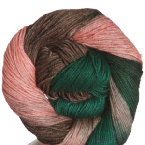 Queensland Collection Llama Lace Yarn - 10 Green, Brown, Peach