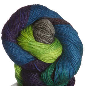 Queensland Collection Llama Lace Yarn - 14 Teal, Lime, Brown