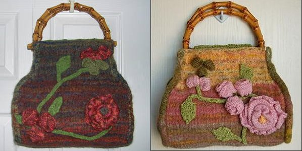 CPY Aran + Taos English Garden Felted Carpetbag Kit - Felting