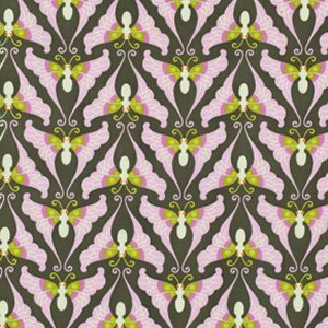 Heather Bailey Lottie Da Fabric - Papillon - Charcoal
