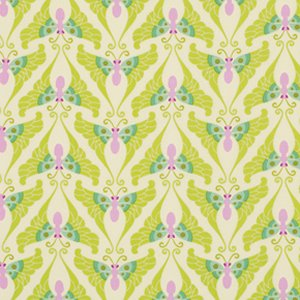 Heather Bailey Lottie Da Fabric - Papillon - Lime