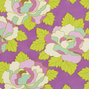 Heather Bailey Lottie Da Fabric - Go-Go Rose - Purple
