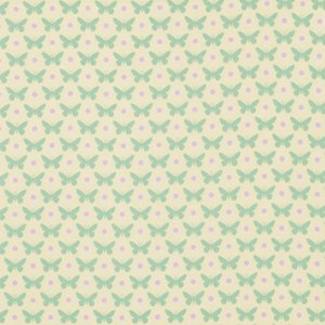 Heather Bailey Lottie Da Fabric - Butterfly Dot - Cream