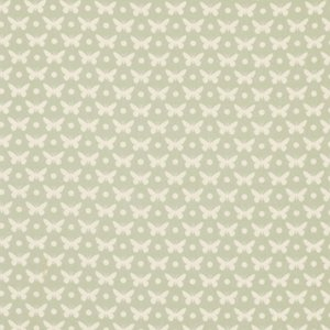 Heather Bailey Lottie Da Fabric - Butterfly Dot - Dove