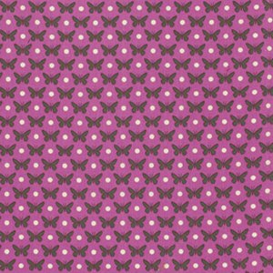 Heather Bailey Lottie Da Fabric - Butterfly Dot - Orchid