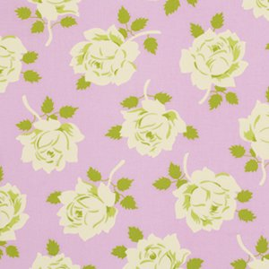 Heather Bailey Lottie Da Fabric - Vintage Rose - Pink