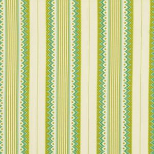Heather Bailey Lottie Da Fabric - Carousel Stripe - Olive